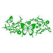 Vinilo Mariposas 1 Verde Medida G