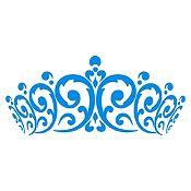 Vinilo Cabecero Corona Azul Claro Medida M