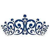 Vinilo Cabecero Corona Azul Oscuro Medida M