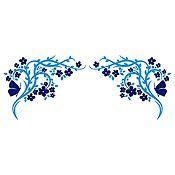 Vinilo Esquinero Mariposas 1 Azul Oscuro, Azul Claro Medida M