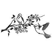 Vinilo Pareja de Aves 1 Negro Medida M