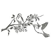 Vinilo Pareja de Aves 1 Gris Oscuro Medida G