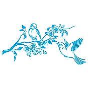 Vinilo Pareja de Aves 1 Azul Claro Medida M