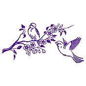 Vinilo Pareja de Aves 1 Morado Medida G