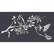 Vinilo Pareja de Aves 1 Blanco Medida G