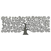 Vinilo Árbol de la Vida Klimt 1 Gris Oscuro Medida G
