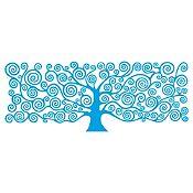 Vinilo Árbol de la Vida Klimt 1 Azul Claro Medida P
