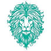 Vinilo Cabeza de León 1 Verde Esmeralda Medida P