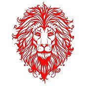 Vinilo Cabeza de León 1 Rojo Medida P