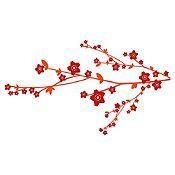 Vinilo Árbol Sakura 1 Vinotinto, Rojo Medida G