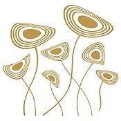 Vinilo Flores Circulares Dorado Medida P