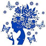 Vinilo Gaia Azul Medio Medida P