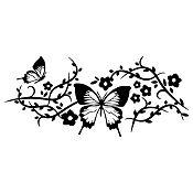 Vinilo Mariposas Negro Medida M