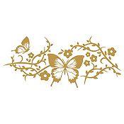Vinilo Mariposas Dorado Medida M