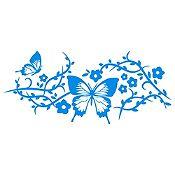 Vinilo Mariposas Azul Claro Medida P