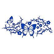 Vinilo Mariposas Azul Medio Medida G