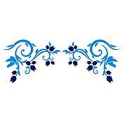 Vinilo Esquinero Botones de Rosas Azul Claro, Azul Oscuro Medida M