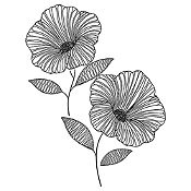 Vinilo Flor de Jamaica Negro Medida M