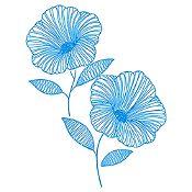 Vinilo Flor de Jamaica Azul Claro Medida M