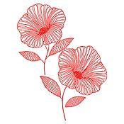 Vinilo Flor de Jamaica Rojo Medida P