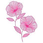 Vinilo Flor de Jamaica Fucsia Medida M
