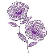 Vinilo Flor de Jamaica Morado Medida M
