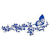 Vinilo Rastro de Mariposa Azul Medio Medida P