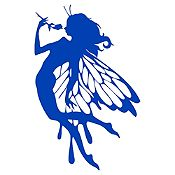 Vinilo Hada Azul Medio Medida G