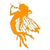 Vinilo Hada Naranja Medida M
