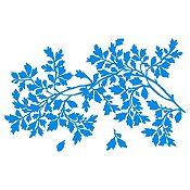 Vinilo Hojas Y Rama Azul Claro Medida M