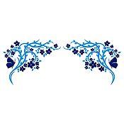 Vinilo Esquinero Mariposas Azul Oscuro, Azul Claro Medida M