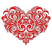 Vinilo Corazón Tatuaje Rojo Medida P