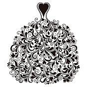 Vinilo Vestido de Ramas Negro Medida P