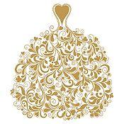 Vinilo Vestido de Ramas Dorado Medida M