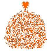 Vinilo Vestido de Ramas Naranja Medida G