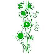 Vinilo Ramas Abstractas Verde Claro Medida G