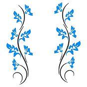 Vinilo Ramas Gris Oscuro, Azul Claro Medida M