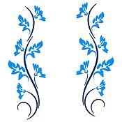 Vinilo Ramas Azul Oscuro, Azul Claro Medida P