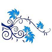 Vinilo Rama Ensueño Azul Oscuro, Azul Claro Medida G