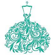 Vinilo Vestido de Hojas Turquesa Medida P