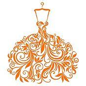 Vinilo Vestido de Hojas Naranja Medida P