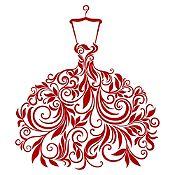 Vinilo Vestido de Hojas Vinotinto Medida G
