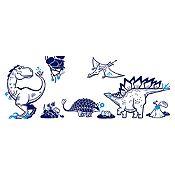 Vinilo Grupo dinosaurios Azul oscuro, azul claro