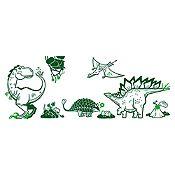 Vinilo Grupo dinosaurios Verde oscuro, verde claro