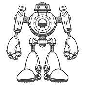 Vinilo Robot Gris Oscuro Medida P