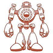 Vinilo Robot Marrón Medida M