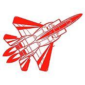 Vinilo Avión Rojo Medida M