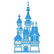 Vinilo Castillo de Princesa Azul Claro Medida G