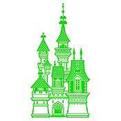 Vinilo Castillo de Princesa Verde Claro Medida P