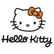 Vinilo Hello Kitty Negro, Naranja Medida G